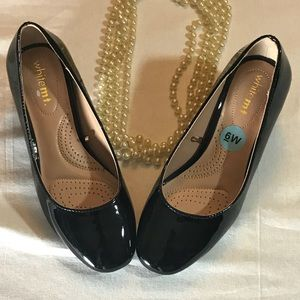 Black Patent Leather Shoes Small Heel: 2 inches